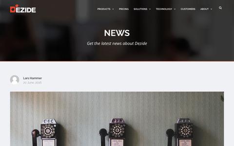 Screenshot of Press Page dezide.com - News - Dezide - captured July 4, 2016