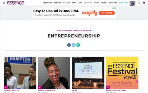 Entrepreneurship | Essence.com
