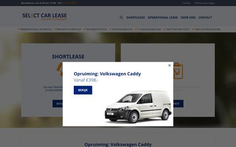Screenshot of Home Page selectcarlease.nl - Shortlease expert Select Car Lease - captured Aug. 4, 2015