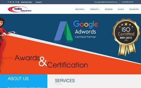 Screenshot of Home Page india-interactive.net - Web Development | Web Design Company - India Interactive - captured Sept. 13, 2018