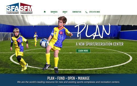 Screenshot of Services Page sportadvisory.com - Sports Facilities Advisory - captured Oct. 6, 2014