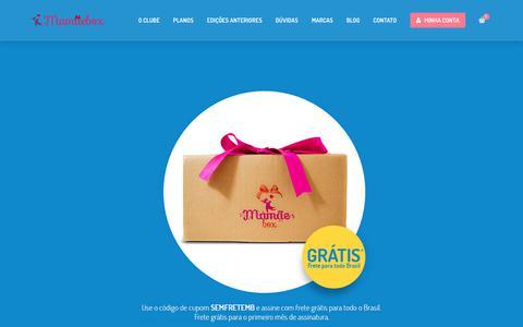 Screenshot of Home Page mamaebox.com.br - Clube de Assinatura MamãeBox - captured June 27, 2017
