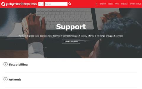 Screenshot of Support Page paymentexpress.com - Payment Express | Support & Resources | EFTPOS | Payment Gateway | Online Credit & Debit Card Processing - captured July 7, 2019
