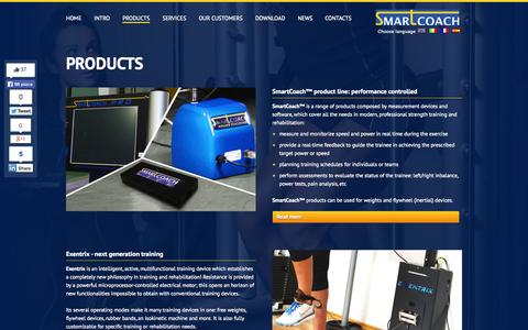 Screenshot of Products Page smartcoach.eu - Our Products   SmartCoach Europe AB - captured Oct. 7, 2014