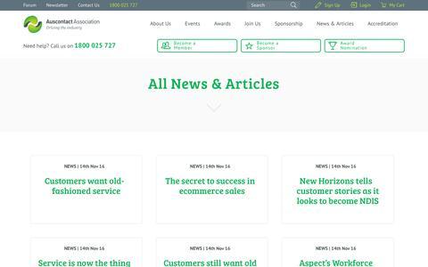 Screenshot of Press Page auscontact.com.au - - Auscontact Association Ltd - captured Nov. 14, 2016