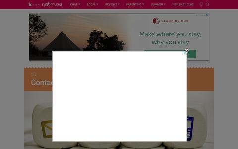 Screenshot of Contact Page netmums.com - Contact us - Netmums - captured June 12, 2017