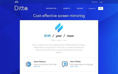 Screenshot of Pricing Page airsquirrels.com - Pricing | Ditto - captured July 6, 2018