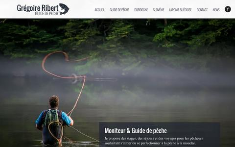 Screenshot of Home Page argentat-guide-peche.com - Grégoire Ribert | Guide de pêche à Argentat en Corrèze (19) - captured Aug. 28, 2015