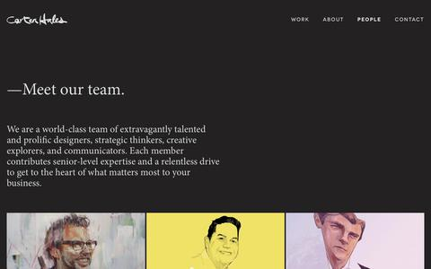 Screenshot of Team Page carterhales.com - Carter Hales - Prolific designers and creative thinkers at your service - captured Sept. 27, 2018