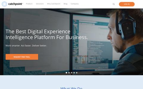 Screenshot of Home Page catchpoint.com - Catchpoint - The Best Digital Experience Intelligence Platform For Business. - captured April 11, 2017