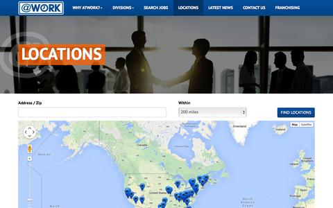 Screenshot of Locations Page atwork.com - Locations - captured Nov. 2, 2014
