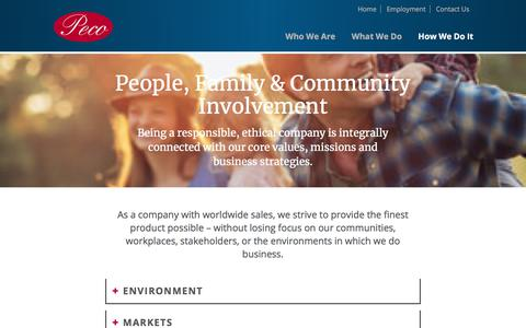 Screenshot of Team Page pecofoods.com - People, Family & Community Involvement | Peco Foods, Inc. - captured July 16, 2018