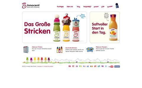 Screenshot of Home Page innocentdrinks.de - innocent drinks - kleine feine smoothies - captured Sept. 25, 2014