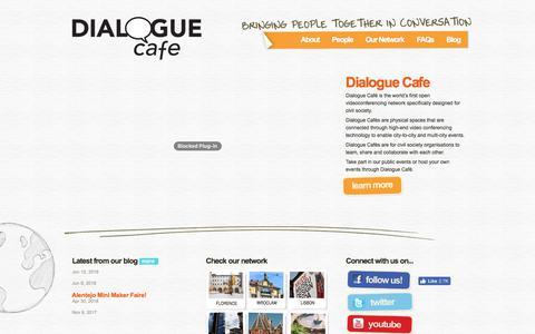 Screenshot of Home Page dialoguecafe.org - Dialogue Café | Homepage - captured Aug. 6, 2018