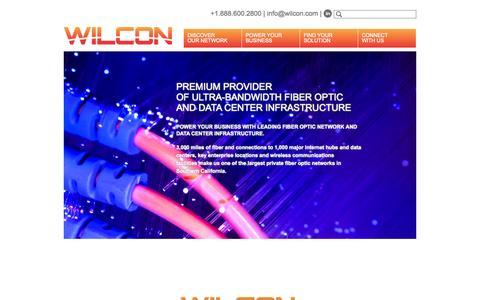 Screenshot of Home Page wilcon.com - Wilcon   Fiber Optic Southern California   Colocation Los Angeles, Data Center - captured Oct. 9, 2014