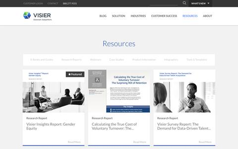 Resources | Visier Inc.