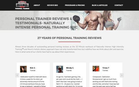 Screenshot of Testimonials Page naturallyintense.net - Personal Trainer Reviews & Testimonials- Naturally Intense Personal Training NYC - captured Nov. 8, 2018