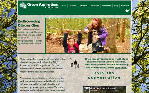 Screenshot of Home Page greenaspirationsscotland.co.uk - Green Aspirations Scotland | Welcome to our site - captured July 18, 2016