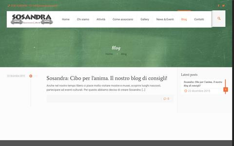 Screenshot of Blog sosandra.com - Blog | SOSANDRA - captured Oct. 4, 2018