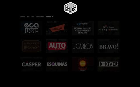 Screenshot of Home Page renangoulart.com - Renan Goulart - Design Editorial - captured Oct. 7, 2014