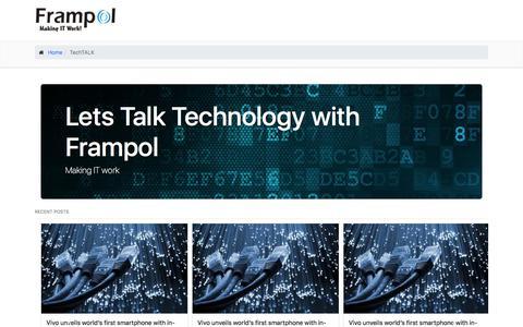 Screenshot of Blog frampolafrica.com - Frampol | TechTALK - captured Feb. 18, 2018
