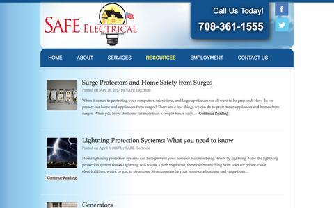 Screenshot of Blog safeelectricalservice.com - Blog | Safe Electrical Service - captured May 26, 2017