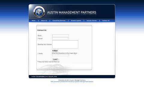 Screenshot of Contact Page austinmp.com - Contact Us - captured Oct. 5, 2014