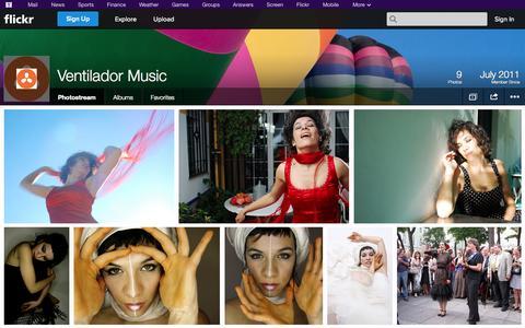 Screenshot of Flickr Page flickr.com - Flickr: Ventilador Music's Photostream - captured Oct. 25, 2014