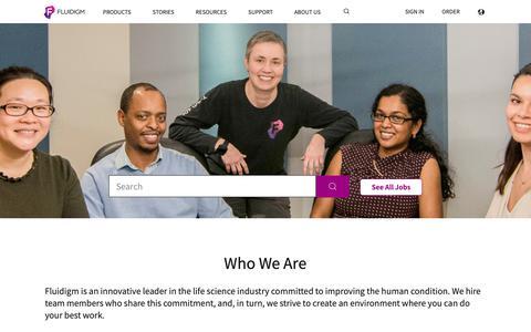 Screenshot of Jobs Page fluidigm.com - Fluidigm   Careers - captured March 14, 2019