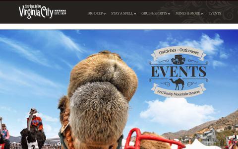 Screenshot of Home Page visitvirginiacitynv.com - Virginia City Nevada - Virginia City - captured Sept. 22, 2018