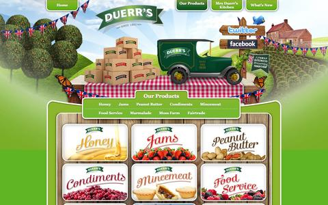 Screenshot of Products Page duerrs.co.uk - Products Archive - Duerr'sDuerr's - captured Oct. 4, 2014