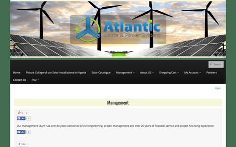Screenshot of Team Page atlanticwastepower.com - Management - Atlantic Waste and Power Systems - captured Oct. 4, 2014