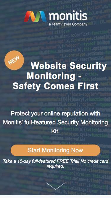 Website Security Monitoring - Monitis