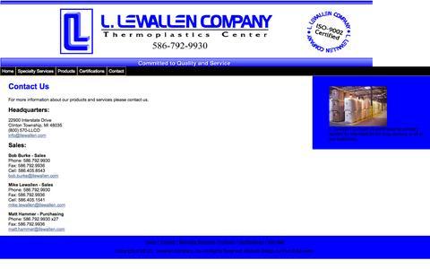 Screenshot of Contact Page llewallen.com - Contact Us - captured Oct. 1, 2014
