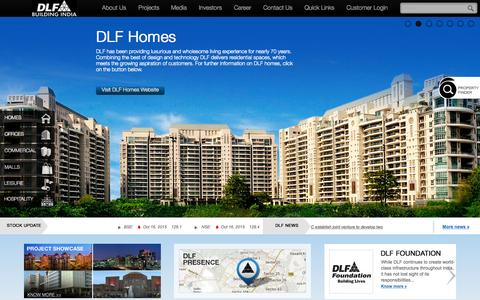 Screenshot of Home Page dlf.in - DLF: Leading Real Estate Company in India - captured Oct. 16, 2015