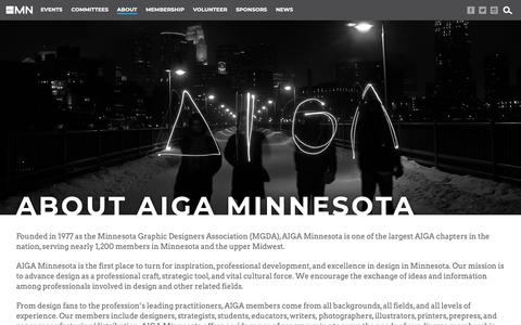 Screenshot of About Page aigaminnesota.org - AIGA Minnesota - captured June 23, 2019