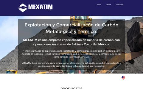 Screenshot of Home Page mexatim.com - Mexatim - captured Feb. 13, 2016