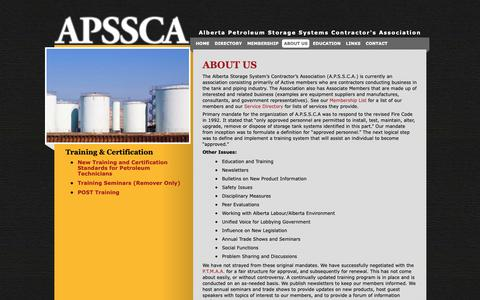 Screenshot of About Page apssca.com - A.P.S.S.C.A.  About Us - A.P.S.S.C.A. - captured Nov. 12, 2018
