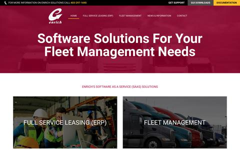 Screenshot of Home Page richer.ca - Enrich Software Corp. (Software solutions for your fleet management needs) - captured Feb. 17, 2018