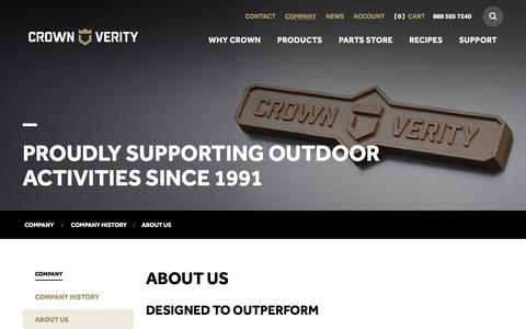 Screenshot of About Page crownverity.com - About Us - Crown Verity - captured Feb. 1, 2016
