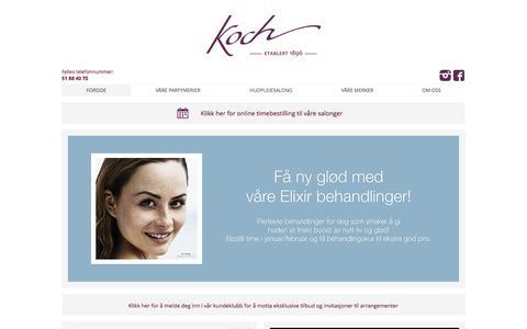 Screenshot of Home Page koch-parfymerier.no - KOCH - PARFYMERIER OG SALONGER - STAVANGER - captured Feb. 12, 2016