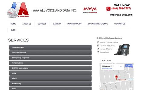 Screenshot of Services Page aaa-avad.com - AVAYA Installation NY, AVAYA System Repair NJ - captured Oct. 6, 2017