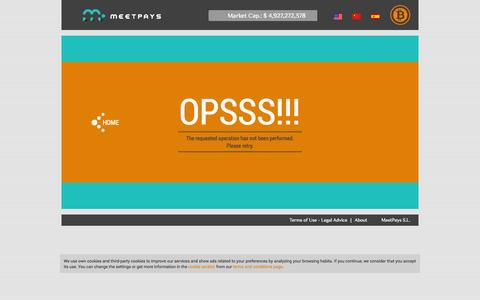 Screenshot of Terms Page meetpays.com - Error - Buy Bitcoins by Credit Card - MeetPays - captured Oct. 27, 2014