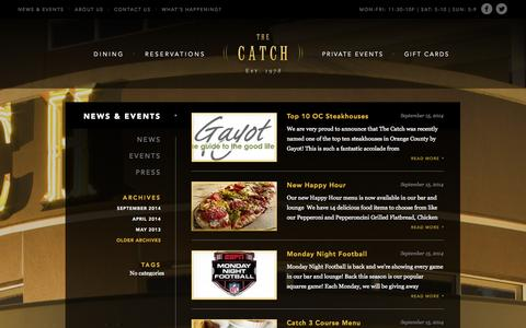 Screenshot of Blog catchanaheim.com - News & Events Archives - The Catch - captured Oct. 26, 2014