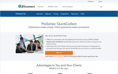 Screenshot of intuit.com - ProSeries - QuickCollect - captured July 22, 2017