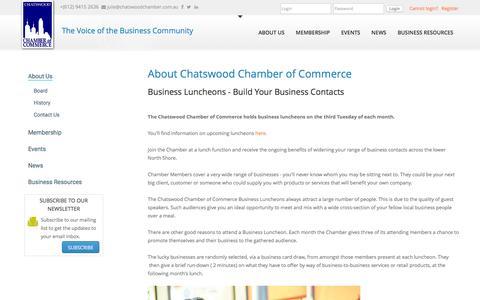 Screenshot of About Page chatswoodchamber.com.au - About Chatswood Chamber of Commerce - captured Jan. 27, 2016