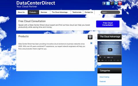 Screenshot of Products Page datacenterdirect.com - Products - DataCenterDirect - captured Sept. 30, 2014