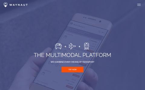 Screenshot of Home Page waynaut.com - Waynaut.com | the multimodal platform - captured Feb. 13, 2016