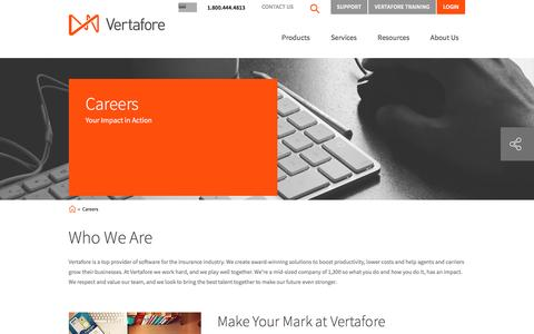 Screenshot of Jobs Page vertafore.com - Learn more about a Vertafore job | Vertafore - captured Jan. 31, 2017