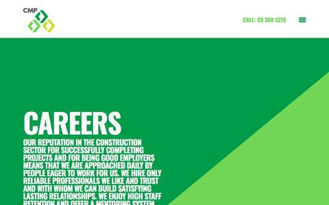 Screenshot of Jobs Page cmp.net.nz - Working at CMP Construction - captured Sept. 25, 2018
